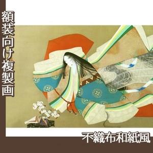 上村松園「伊勢大輔」【複製画:不織布和紙風】