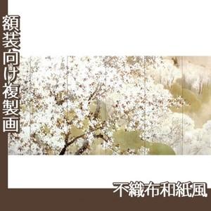 木島桜谷「小雨ふる吉野(左)」【複製画:不織布和紙風】
