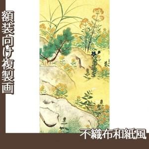 横山大観「野の花4」【複製画:不織布和紙風】