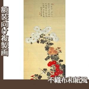 酒井抱一「菊に小禽図」【複製画:不織布和紙風】