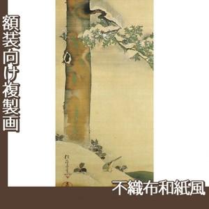 酒井抱一「雪中檜に小禽図」【複製画:不織布和紙風】