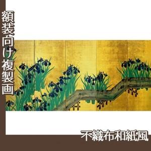 酒井抱一「八橋図屏風(右隻)」【複製画:不織布和紙風】