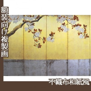 酒井抱一「桜図屏風(左隻)」【複製画:不織布和紙風】