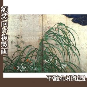 酒井抱一「夏秋草図屏風(右隻)」【複製画:不織布和紙風】