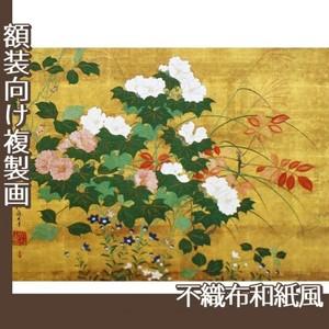酒井抱一「秋草花卉図」【複製画:不織布和紙風】