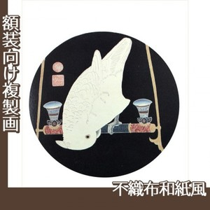 伊藤若冲「花鳥版画(六枚) 六.鸚鵡図」【複製画:不織布和紙風】