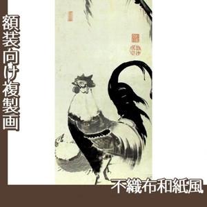 伊藤若冲「柳下双鶏図(双幅)」【複製画:不織布和紙風】