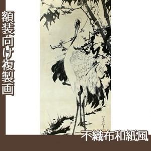伊藤若冲「竹梅群鶴図1(双幅)」【複製画:不織布和紙風】