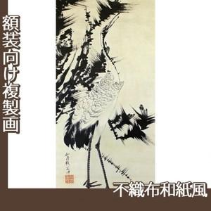 伊藤若冲「竹梅群鶴図2(双幅)」【複製画:不織布和紙風】