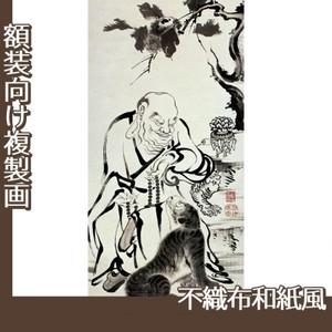 伊藤若冲「十六羅漢図(六幅) 二」【複製画:不織布和紙風】