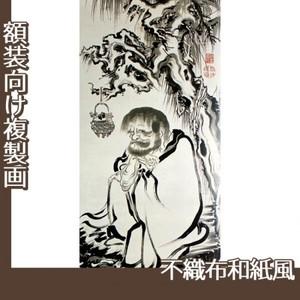 伊藤若冲「十六羅漢図(六幅) 三」【複製画:不織布和紙風】
