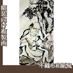 伊藤若冲「十六羅漢図(六幅) 五」【複製画:不織布和紙風】