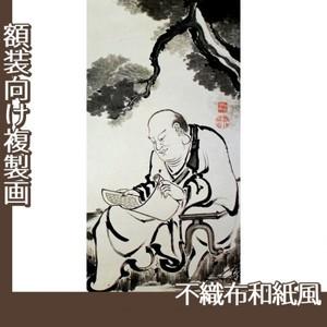 伊藤若冲「十六羅漢図(六幅) 六」【複製画:不織布和紙風】
