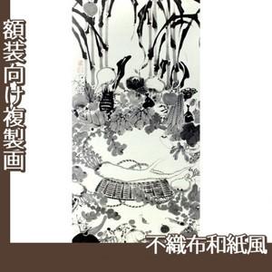 伊藤若冲「果蔬涅槃図」【複製画:不織布和紙風】