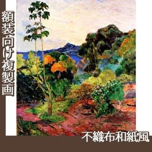 ゴーギャン「マルティニック島の熱帯植物」【複製画:不織布和紙風】