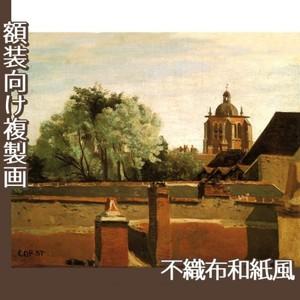コロー「オルレアンのサン-パテルヌ教会鐘楼」【複製画:不織布和紙風】