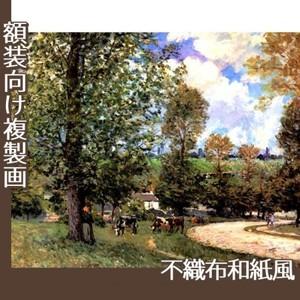 シスレー「牧場の牛、ルーヴシエンヌ」【複製画:不織布和紙風】