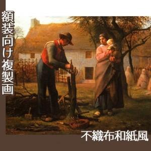 ミレー「接ぎ木をする人」【複製画:不織布和紙風】