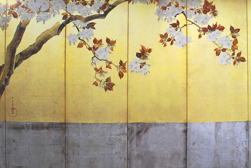 桜図屏風(左隻)
