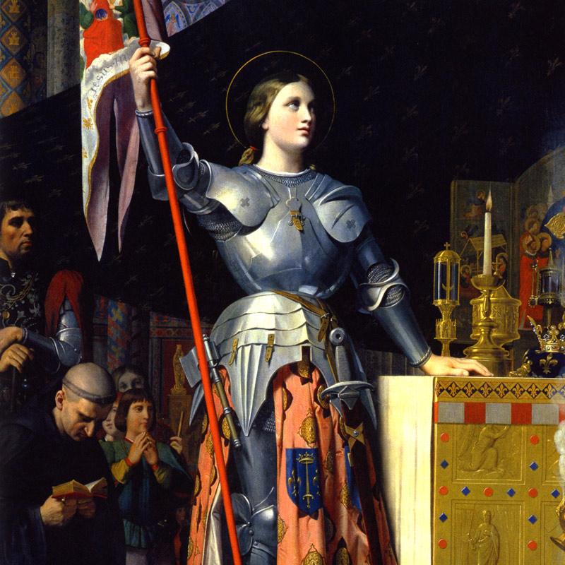 シャルル7世の戴冠式のジャンヌ・ダルク