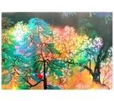横山大観「夜桜(右隻)」【ホログラム額装向け複製画】