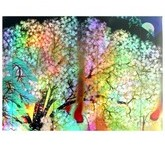 横山大観「夜桜(左隻)」【ホログラム額装向け複製画】