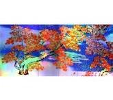 横山大観「紅葉(左隻)」【ホログラム額装向け複製画】